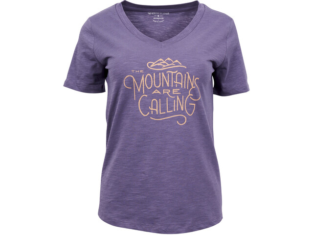 United By Blue Mountains Are Calling T-shirt à col ras-du-cou à motif Femme, dusty purple